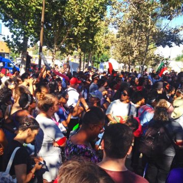 National Moment of Silence 2014 for Mike Brown and Ferguson, Leimert Park, Los Angeles