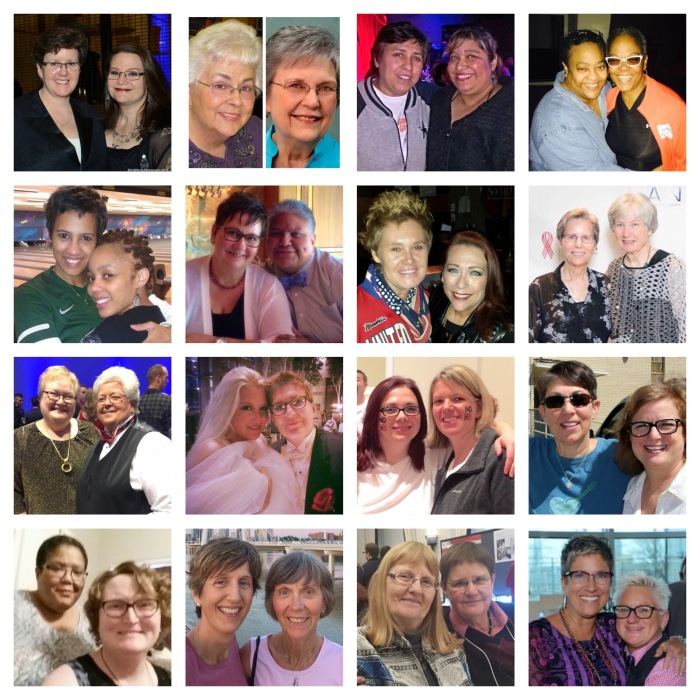 32 women--16 couples--representative of the many beautiful lesbians who have impacted my life