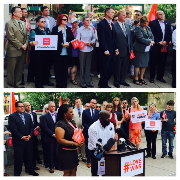Many of the Dallas-area activists who have informed my work pictured in the June 29, 2015 press conference at the Dallas County Records Building