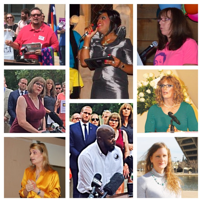 A few of the Dallas transgender leaders whose very lives--much less their bravery and grace--inspire me deeply
