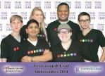 Avery pictured among local youth ambassadors