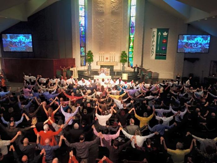 Every Sunday, we join hands in unity, in love, in hope.