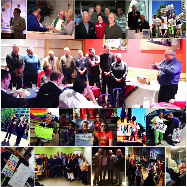 Just a few of the events and faces involved with the work of Hope for Peace & Justice