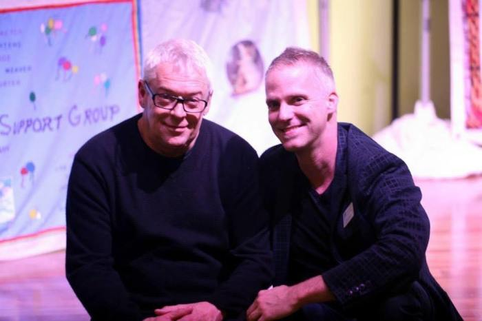 With one of my heroes, Cleve Jones, October 2013