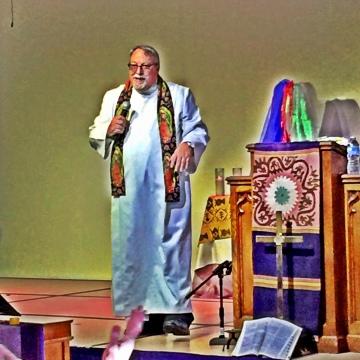Bishop Mitulski preaching at City of Refuge UCC Sunday, November 15, 2015