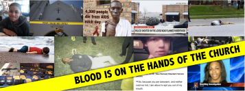 blood is on the hands of the church